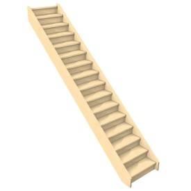 Escalier droit woodup une marque de la soci t levigne - Escalier droit sans rampe ...