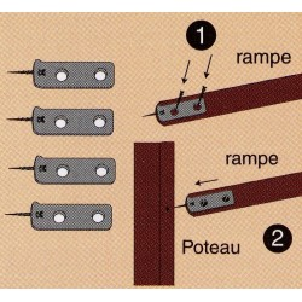 Fixation rampe-poteau