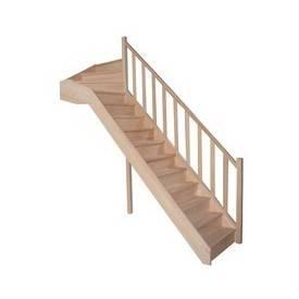 Escalier 1/4 Tournant haut en hêtre