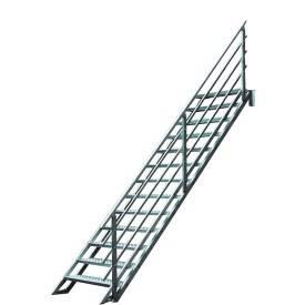 Escalier droit pour extérieur en aluminium