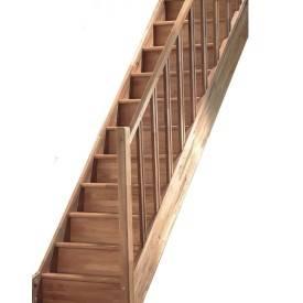 Escalier droit chêne rampe fuseau