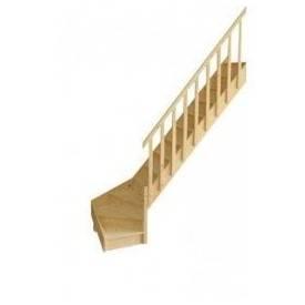 Escalier 1/4 tournant bas réversible